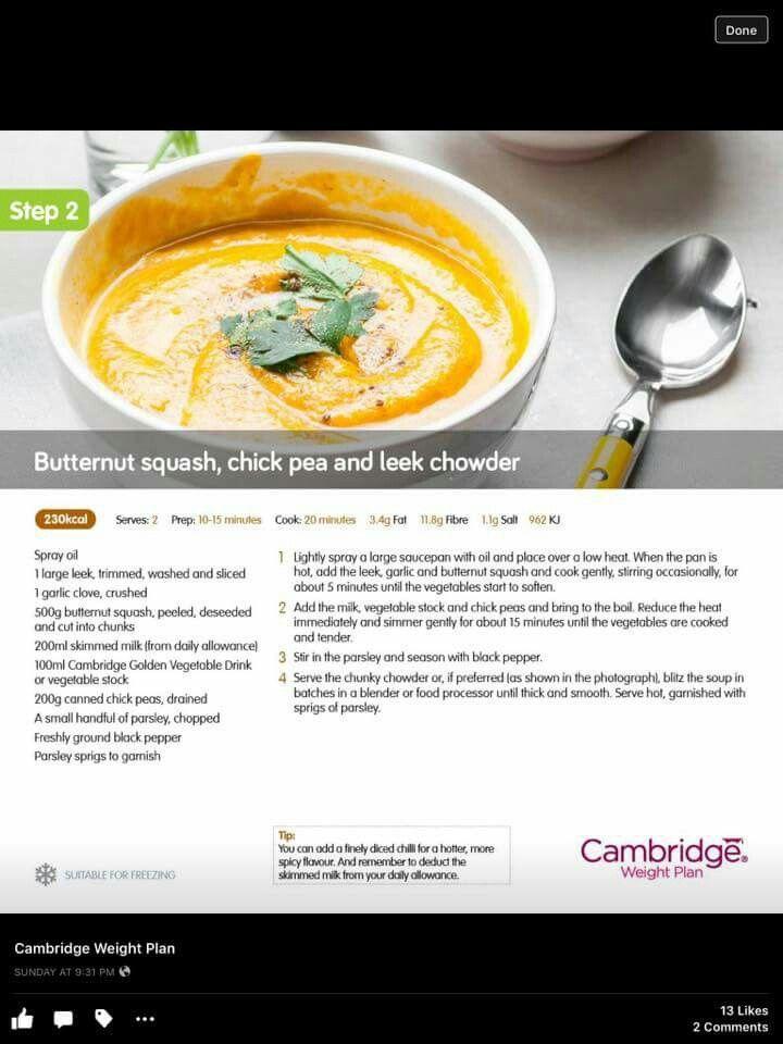 Butternut squash, chick pea and leek chowder. #CWP. Step 2, 3, 4, 5