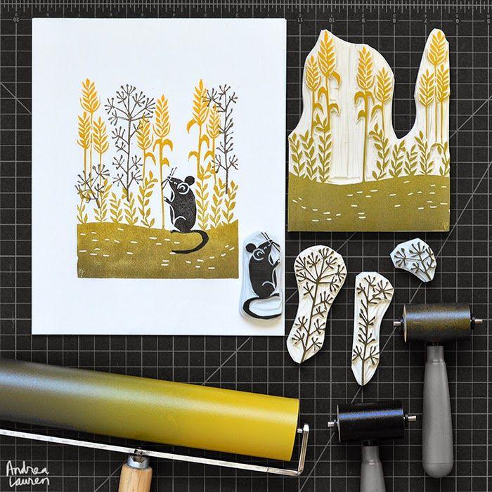 Andrea Lauren: Harvest Mouse print by Andrea Lauren