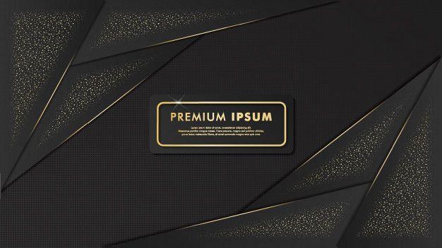 Elegant Black And Gold Background Template Design Black Abstract Background Background Templates Template Design