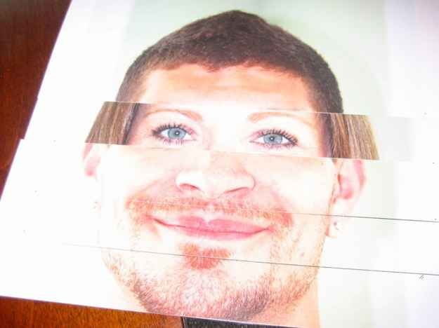 Blow up photos of mom & dad and cut into strips. Have guests rearrange to what they think the baby will look like. Equally fun and creepy baby shower game!