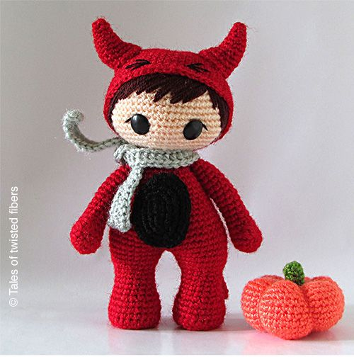 Little Red Devil - FREE amigurumi pattern  ༺✿Teresa Restegui http://www.pinterest.com/teretegui/✿༻