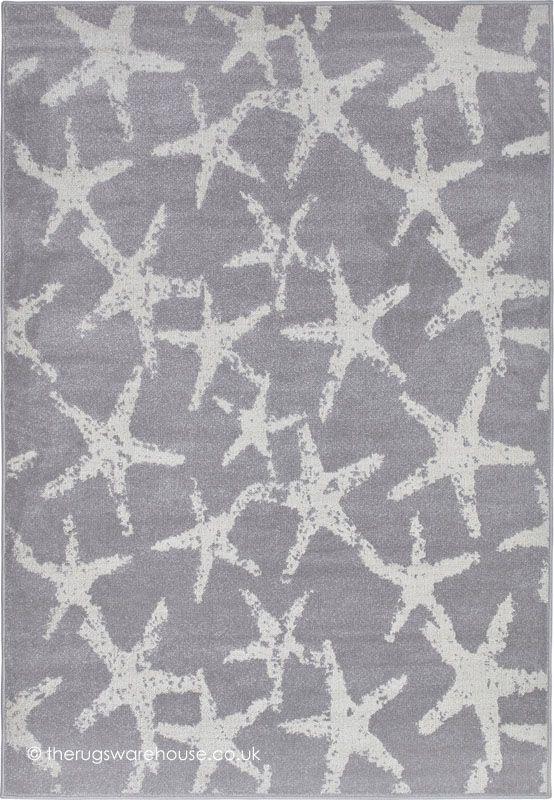 Dafne Stars Grey Rug, An Italian Designed Grey U0026 Silver 100% Advanced Soft  Polypropylene