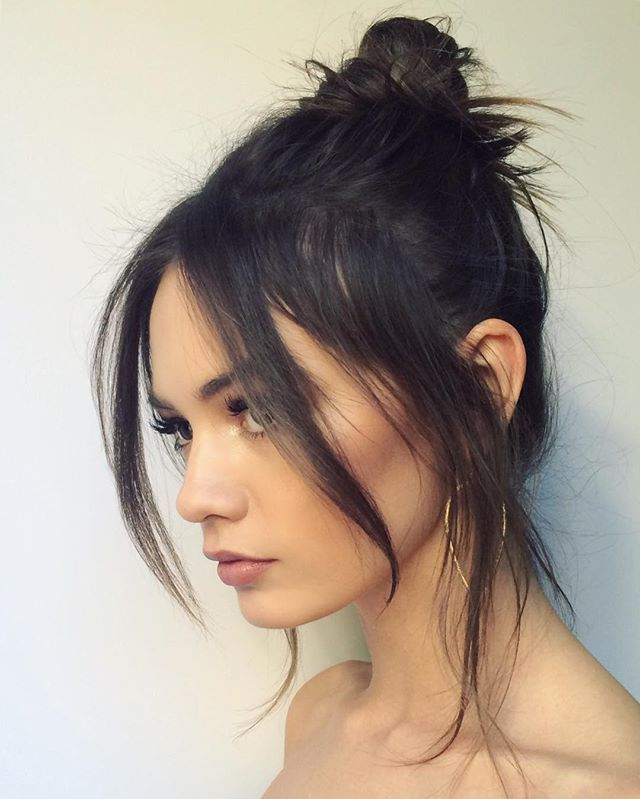 WEBSTA @ brittsully - romantic lil messy 'do in five minutes - remember this when ur runnin late for that holiday partayy this wkend  Lil party angel @beatemuska // #hair #makeup