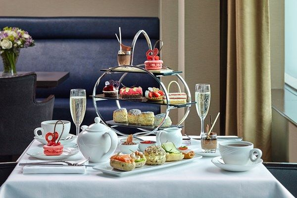 Champagne Chocoholic Afternoon Tea for Two at The London Hilton Park Lane from Buyagift