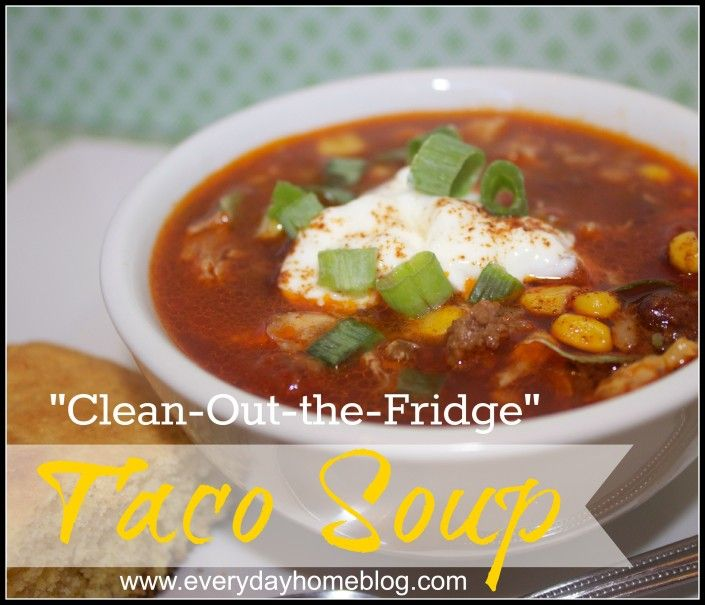 Taco Soup Recipe by The Everyday Home - This one uses ground beef or ...