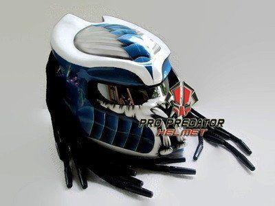 Amazon.com : SY07 настраиваемых Хищник мотоцикла точка шлем белый & синий : Спорт и открытый