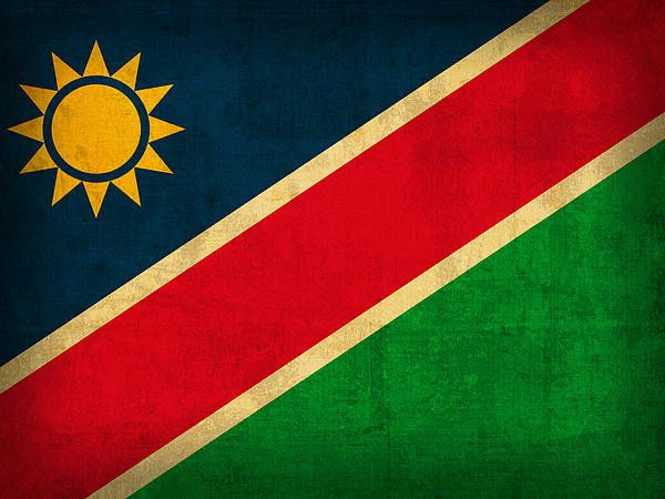 Namibia Flag Vintage Distressed Finish Print By Design Turnpike