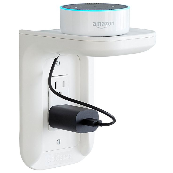 ECHOGEAR Outlet Shelf - A Space-Saving Solution For Anything Up to 10lbs - Built-In Cable Channel - Easy Install With Hardware Included - Ideal For Sonos and Smart Home Speakers - - Amazon.com