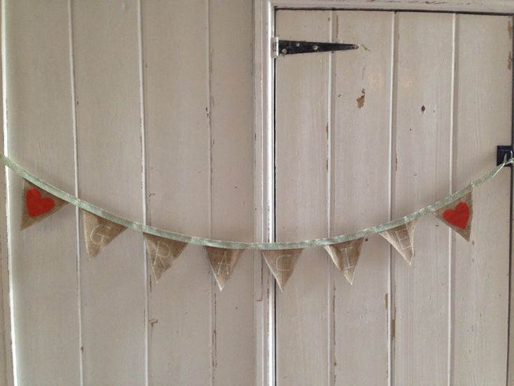 Hemp name bunting - front view.