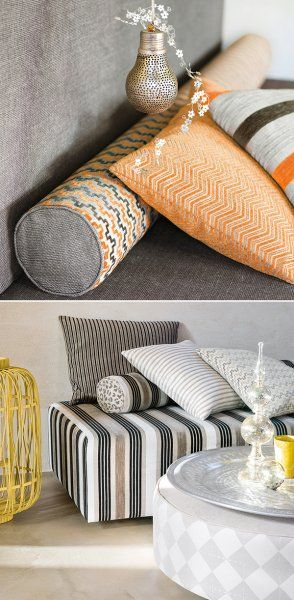 Refined Rustic | A new take on traditional style. Natural textures are paired with more structured sophistication in the form of lustrous metallics and plush, luxe textiles such as velvet and chenille.