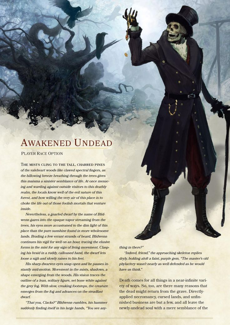 dnd-5e-homebrew - Awakened Undead Race by the_singular_anyone