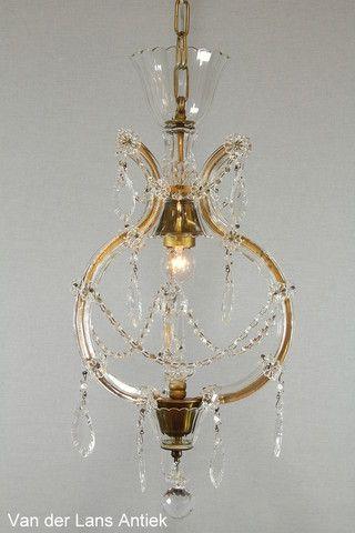 Kristallen Maria Theresia kroonluchter 26416 bij Van der Lans Antiek. Meer kristallen lampen op www.lansantiek.com