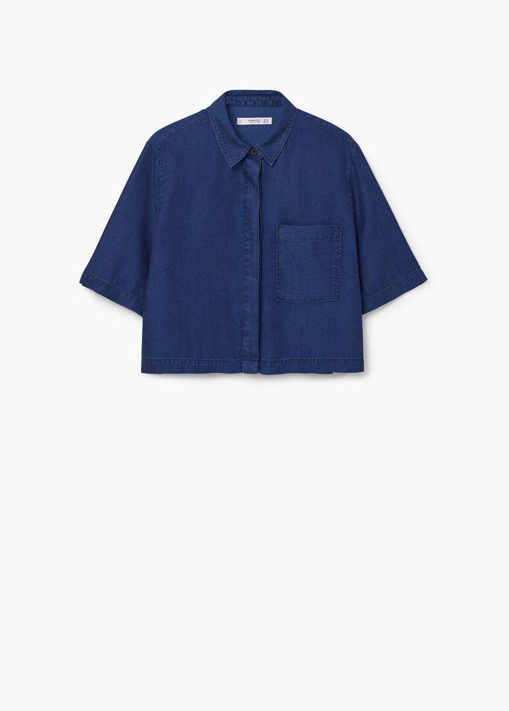 Denim soft shirt | MANGO