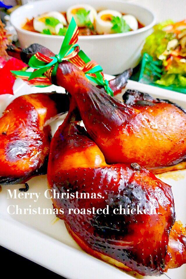 ゆりえ's dish photo ローストチキン | http://snapdish.co #SnapDish #友達&家族でパーティ料理 #晩ご飯 #クリスマス #肉の日(2月9日) #肉の日(2月29日)