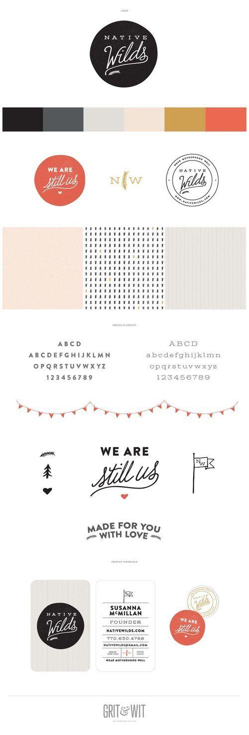 Charte graphique de la marque Native Wilds par Grit & Wit Design