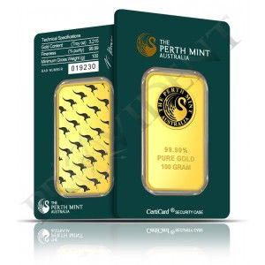 100 Gram Perth Mint Gold Bars