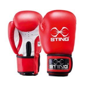 Sting Boxningshandske AIBA röd