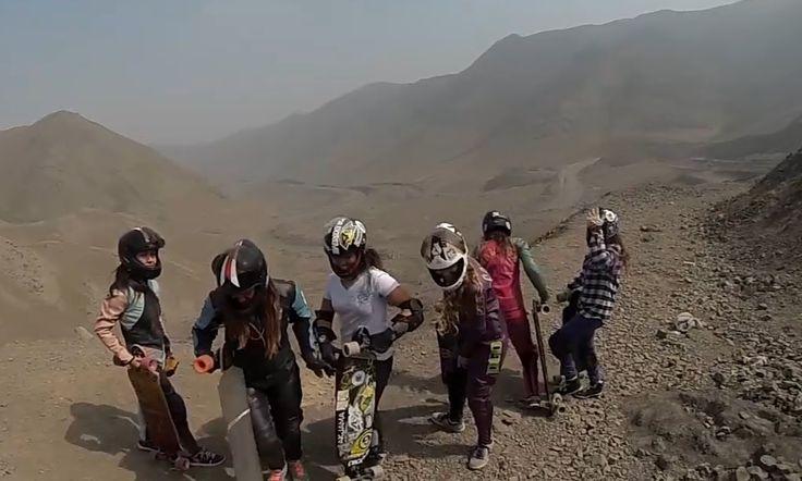 Longboard Girls Crew Peru @ Nuclear Hill