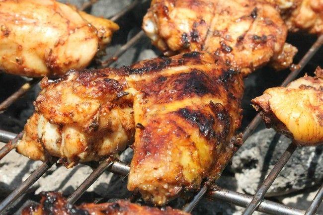 Tandori csirke grillezve