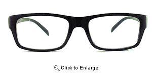 Square Peg Wayfarers Glasses - 263 Black