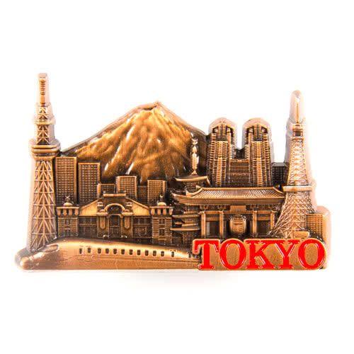 Metal Fridge Magnet: Japan. Tokyo View