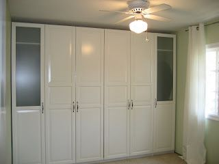 Herbie's World: Guest Room Remodel - Budget Murphy bed with Ikea Pax cabinet frames