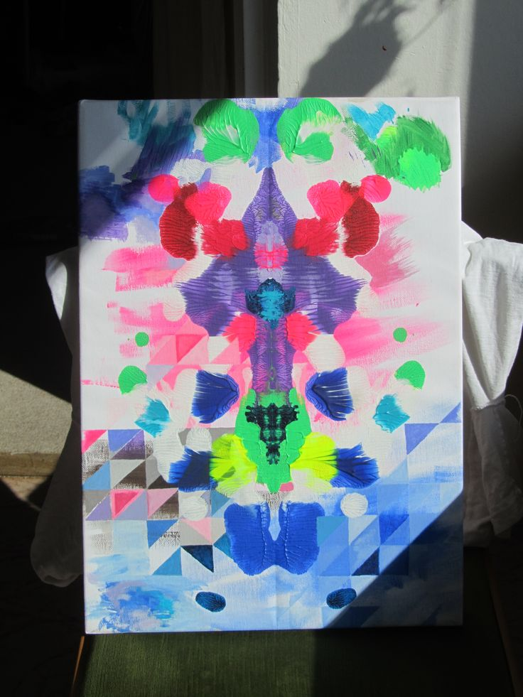 Abstract painting inspired kids art technigue.