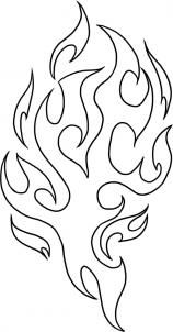 how to draw tribal flames step 4