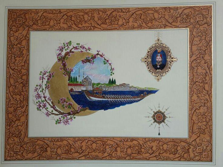 Minyatür. .. Sariye Koca .... sultan Abdülmecit ve mecidiye cami