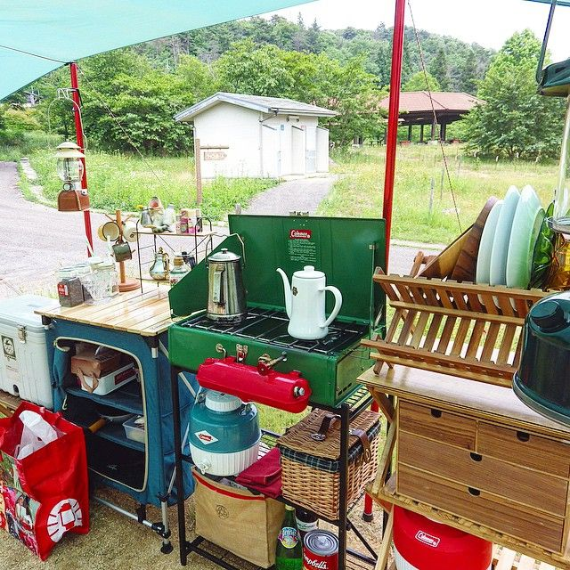 Kitted out camp kitchen.