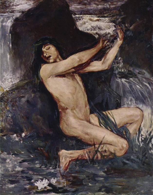 Ernst Josephson (Swedish: 1851 - 1906) - Der Nix, 1882