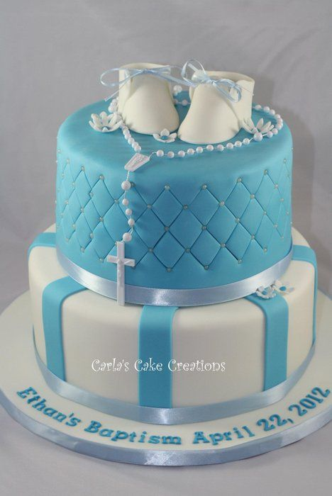 25 best ideas about boy baptism cakes on pinterest for Baby boy cake decoration