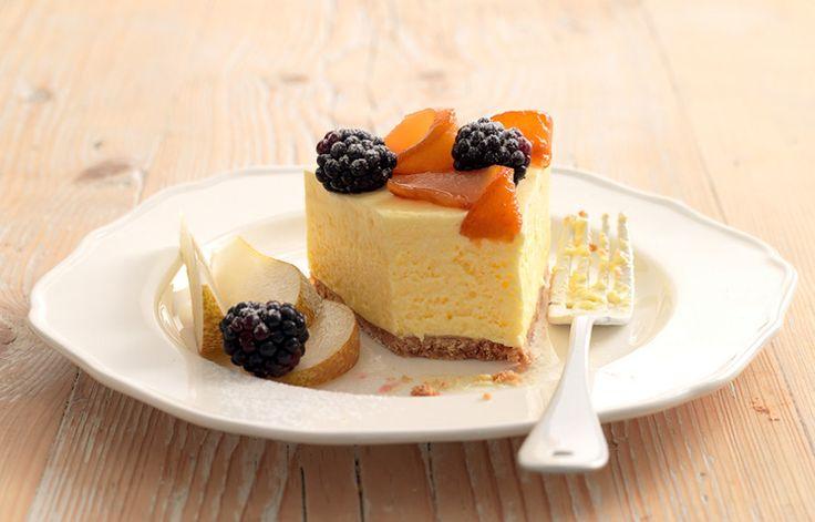 Ricetta Cheesecake con pere caramellate - La Cucina Italiana: ricette, news, chef, storie in cucina