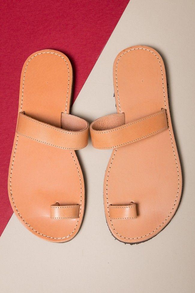 One Finger Leather Sandals Δερμάτινα χειροποίητα σανδάλια. 100% Δέρμα.