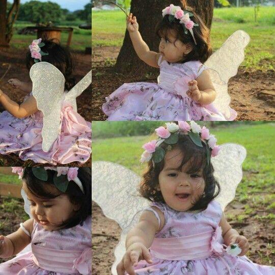 Aniversário infantil, menina, 1aninho, fadas, borboletas, fantasia