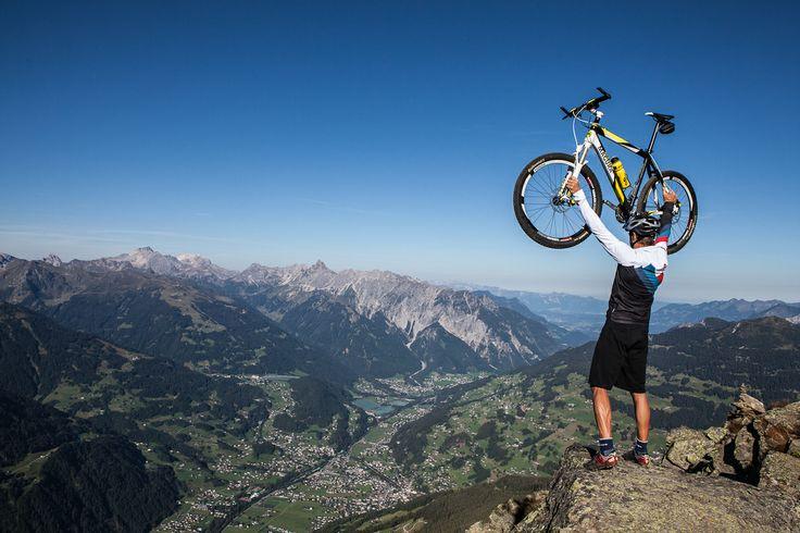 """""""Ich bin der König der Welt"""" ☺ #silvrettamontafon #bike #bergsommer"""