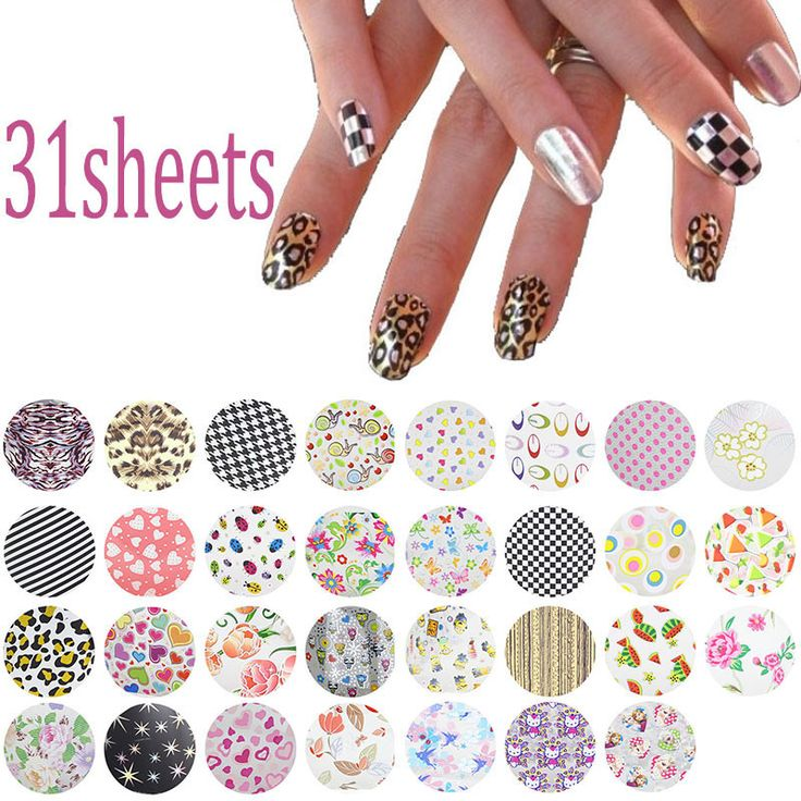 31Pcs/lot 20*4cm Symphony Nail Foil Sticker Flower Style Nail Art Transfer Foil Decal DIY Beauty Craft Nail Decorations Supplies-in Stickers & Decals from Health & Beauty on Aliexpress.com | Alibaba Group