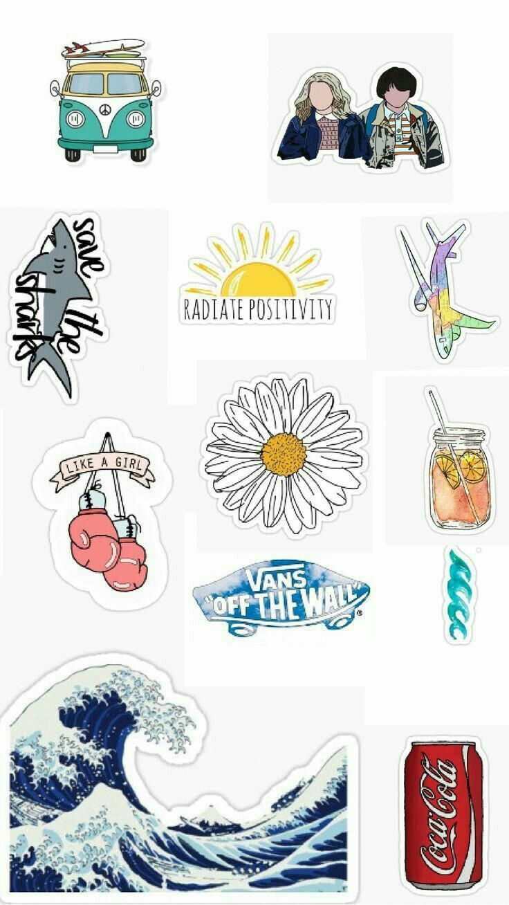 It is a graphic of Aesthetic Printable Stickers within downloadable