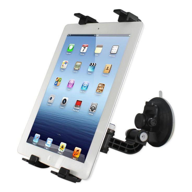 Reiko Phone Holder For Car (Suction On Glass) Clip Ipad Black