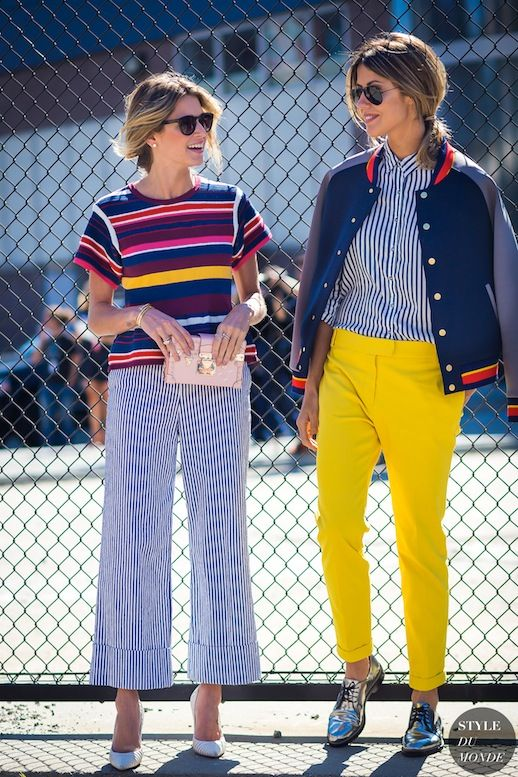 Street Style: 2 Bright Striped Looks To Try Now