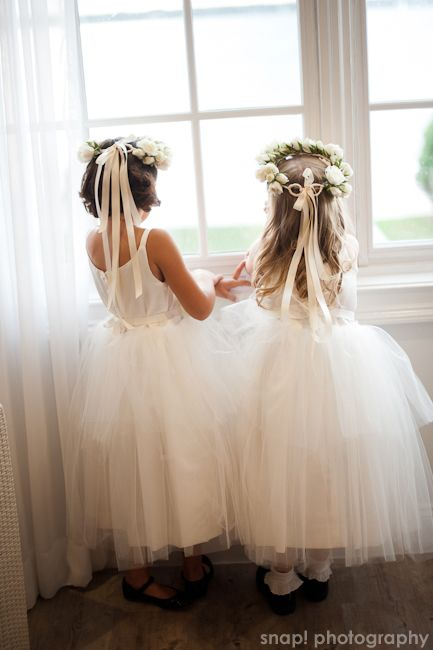 Flower girls .pink for my bridesmaids??