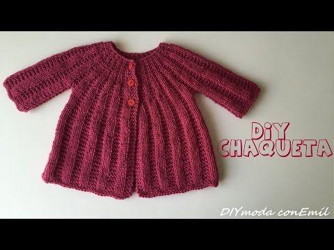 Como tejer Chaqueta de lana para niña 1 de 2 partes - YouTube