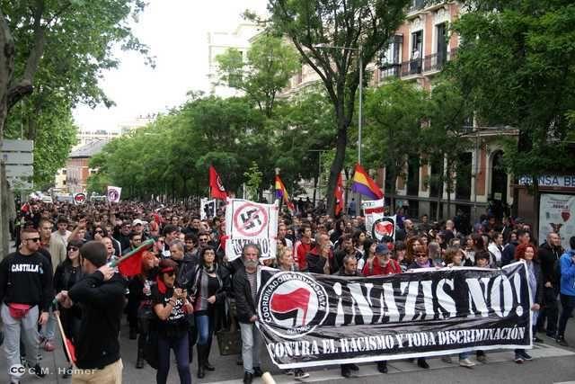 Madrid: Contra el racismo y toda discriminación, Nazis NO, Antifascismo, derechos y libertades, Europa, fascismo, Historia,