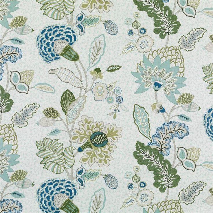 Pattern #:21085-19 Pattern Name: CHILVERS, AQUA Book #2937 : Tilton Fenwick Prints Book #2935 - Prussian, Spruce: Tilton Fenwick Collection