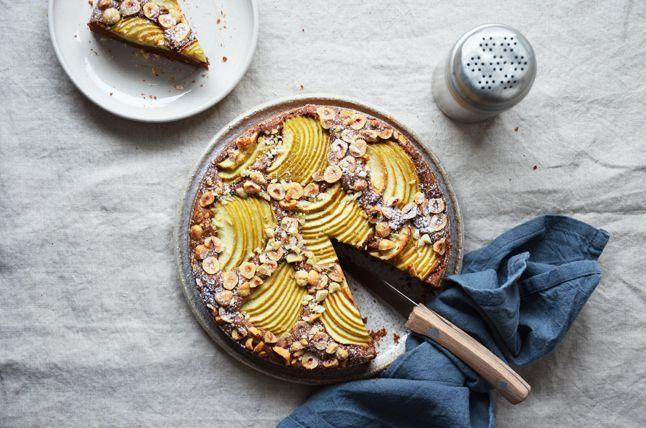 Kublanka vaří doma - Čokoládovo-oříškový koláč s jablky