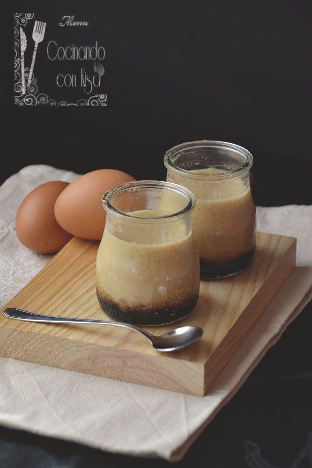 Cocinando con Kisa: Natillas de huevo con caramelo (Thermomix)