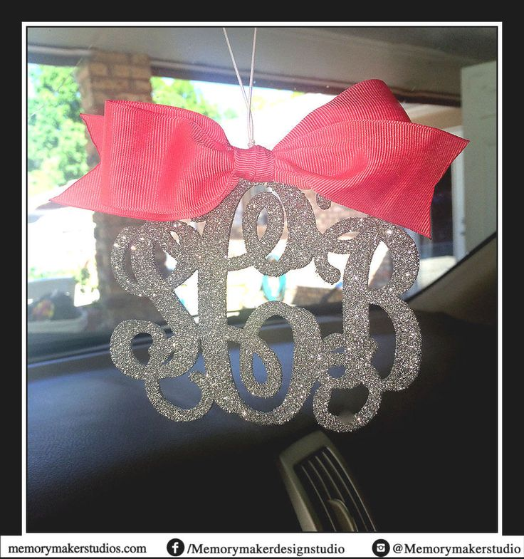 Glitter Rear view mirror charm, Rearview mirror Monogram Rearview mirror letters #MemoryMakerStudio #RearViewMirrorMonogram