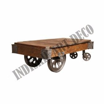 Factory Cart Coffee Table Industrial Cart Coffee Table, View Factory Cart Coffee Table Industrial Cart Coffee Table, INDUSTRIAL FURNITURE Product Details from INDISKIE ART DECO on Alibaba.com