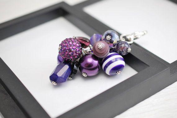 Encanto, encanto del bolso del bolso monedero morado oscuro encanto bolso púrpura encanto, encanto bolso moldeado, bolso púrpura encanto, encanto bolso, regalo para ella,
