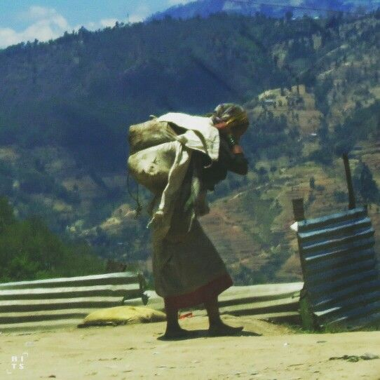 Life goes on. Nepalese local get back to daily life after the earthquake. May 2015.